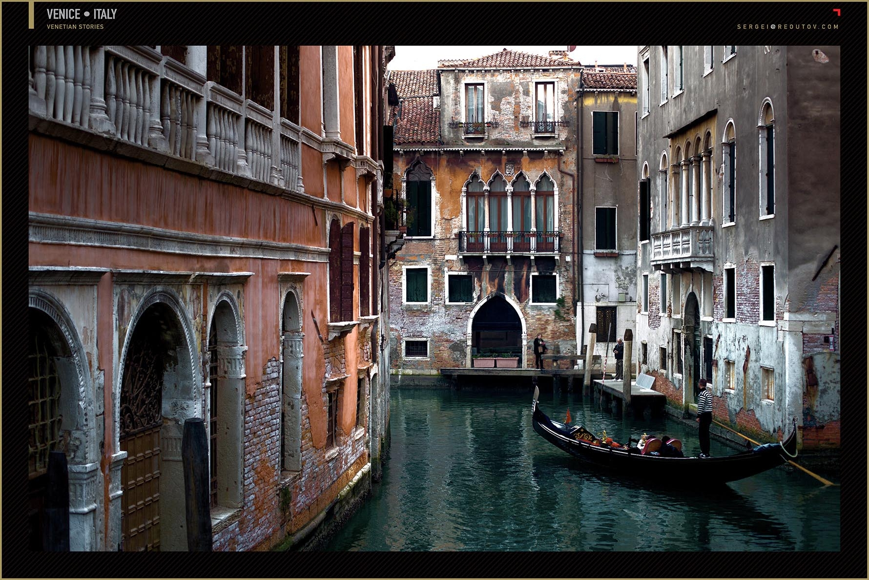 Venetian canals with gondola