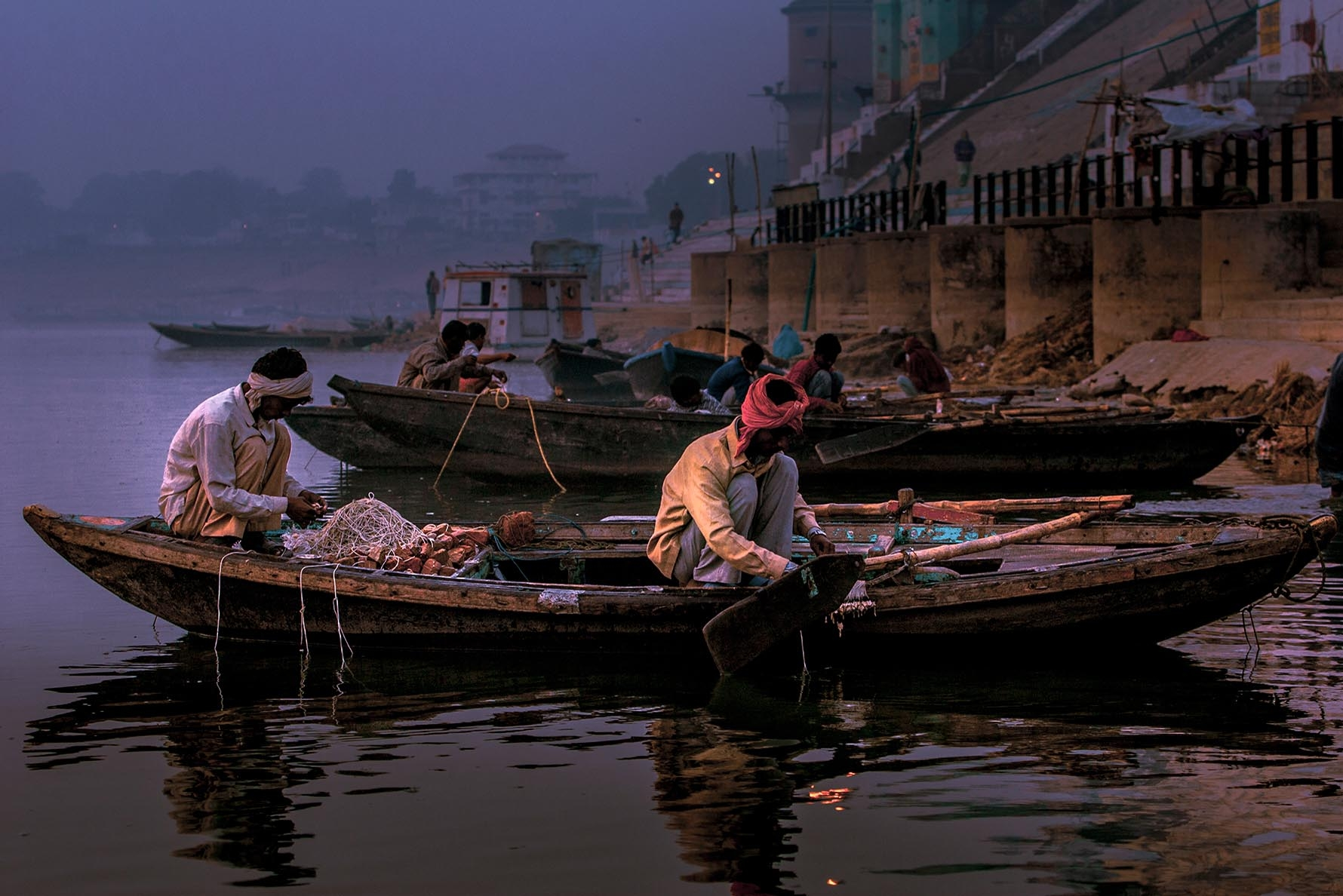 Varanasi Ghats at River Ganges